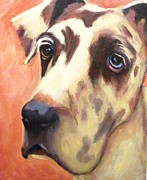 Great Dane Oil Painting Acrylic Prints - Casper Acrylic Print by Pam Bledsoe