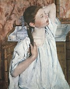 Youthful Photo Prints - Cassatt, Mary Stevenson 1845-1926. Girl Print by Everett