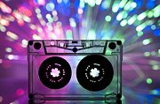 Data Photo Originals - Cassette tape and multicolored lights by Deyan Georgiev