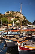 Docked Sailboats Photo Framed Prints - Cassis Framed Print by Brian Jannsen