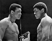 Heavyweight Photos - Cassius Clay Gives Whammy Eye by Underwood Archives
