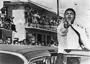 Heavyweight Photos - Cassius Clay In Football Parade by Underwood Archives