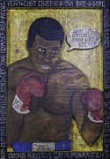 Heavyweight Paintings - Cassius Clay - Muhammad Ali by Eric Cunningham