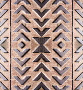 Modified Framed Prints - Cast Iron Chevron Pattern Framed Print by Hakon Soreide