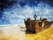 Wrecked Paintings - Cast Upon the Shore by Sandy MacGowan