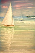 Summertime Pastels Prints - Castaway Print by The Beach  Dreamer