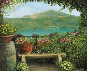 Picture Paintings - Castel Gandolfo by Kiril Stanchev