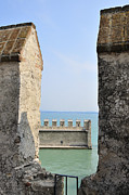 Bastion Posters - Castello Scaligero Castle Sirmione Italy Poster by Matthias Hauser