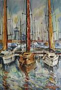 Castellon Boats At Noon Print by Stefano Popovski