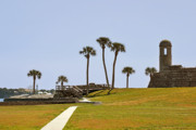 Fortification Framed Prints - Castillo de San Marcos St Augustine FL Framed Print by Christine Till