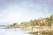 New England Ocean Digital Art Posters - Castine Harbor Maine Poster by Carol Leigh