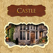 Castles Posters - Castle button Poster by Mike Savad