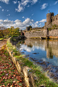 Bank Digital Art Metal Prints - Castle Conwy Metal Print by Adrian Evans