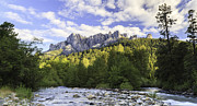 Castella Photos - Castle Crags and Sacramento River panorama by Ken Brown