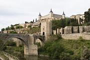 Medieval Entrance Posters - Castle Entrance To Ancient Toledo Poster by Lorraine Devon Wilke