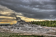 Geysers Prints - Castle Geyser - Yellowstone Print by Daniel Hagerman