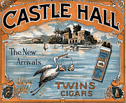 Hall Digital Art Prints - Castle Hall Twin Cigars Print by Studio Artist