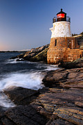 James Kirkikis Art - Castle Hill Lighthouse Dusk by James Kirkikis