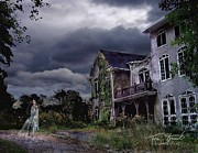 Haunted House Digital Art Prints - Castle House Print by Tom Straub