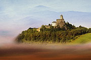 Foggy Day Digital Art Prints - Castle in the air IV. - Lubovna Castle Print by Martin Dzurjanik