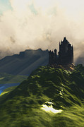 Rural Scenes Digital Art - Castle in the Mist by Corey Ford