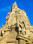 Sandcastles Prints - Castle in the Sand Print by Colleen Kammerer