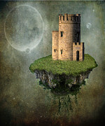 Ancient Architecture Posters - Castle in the Sky Poster by Juli Scalzi