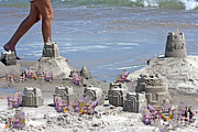 Sand Castles Metal Prints - Castle Kingdom  Metal Print by Betsy A Cutler East Coast Barrier Islands