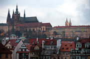 Gothic Poster Prints - Castle of Prague Print by John Rizzuto