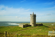Crowd Scene Art - Castle on the coast of Ireland by Birgit Tyrrell