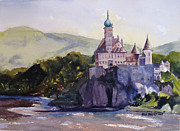 Medieval Paintings - Castle on the Danube by Kris Parins