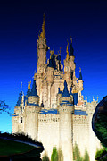 Cinderellas Castle Prints - Castle reflections Print by David Lee Thompson