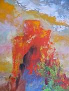 Castle Rock Print by Myra Maslowsky