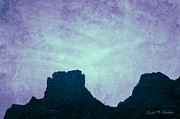 Western Digital Art Posters - Castle Rock Sedona AZ Poster by Dave Gordon