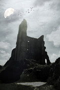 Creepy Castle Framed Prints - Castle Ruin Framed Print by Joana Kruse