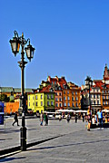 Break Dancing Framed Prints - Castle Square. Warsaw Framed Print by Anna and Robert Harrington