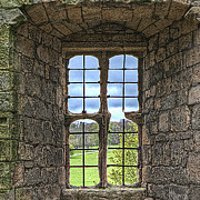 Window Bars Prints - Castle Vew Print by David  Hollingworth