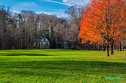 North Chagrin Reservation Framed Prints - Castle with Fall Foliage  Framed Print by Ihor Balaban