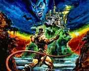 Old Video Game Prints - Castlevania Print by Joe Misrasi