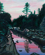 Paintings Available As Prints - Castor River Missouri by Phillip Compton