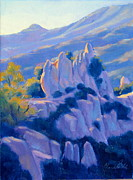 Small Prints - Castro Crest Guardians plein air art Print by Elena Roche