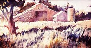 John Svenson Paintings - Castroville Barn by John  Svenson