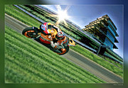 Motogp Posters - Casy Stoner Indy 2011 Poster by Blake Richards