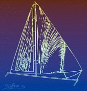 Boats Digital Art Prints - Cat 34 2 Print by Mark Ansier