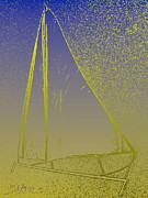 Boats Digital Art Prints - Cat 34 3 Print by Mark Ansier