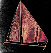 Boats Digital Art Prints - Cat 34 5 Print by Mark Ansier