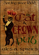 Europe Digital Art - Cat and Crown Pub by Cinema Photography
