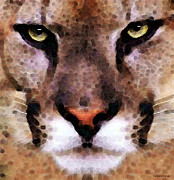 Panthers Prints - Cat Art - Panther 2 Print by Sharon Cummings