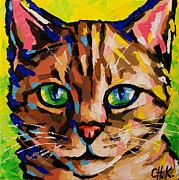 Christine Karron Metal Prints - Cat Metal Print by Christine Karron