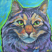 Cat Commission 2 Print by Jenn Cunningham